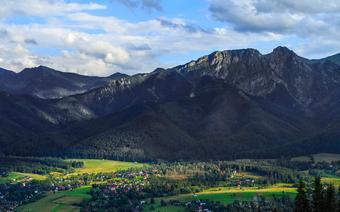 Widok z Gubałówki na Zakopane